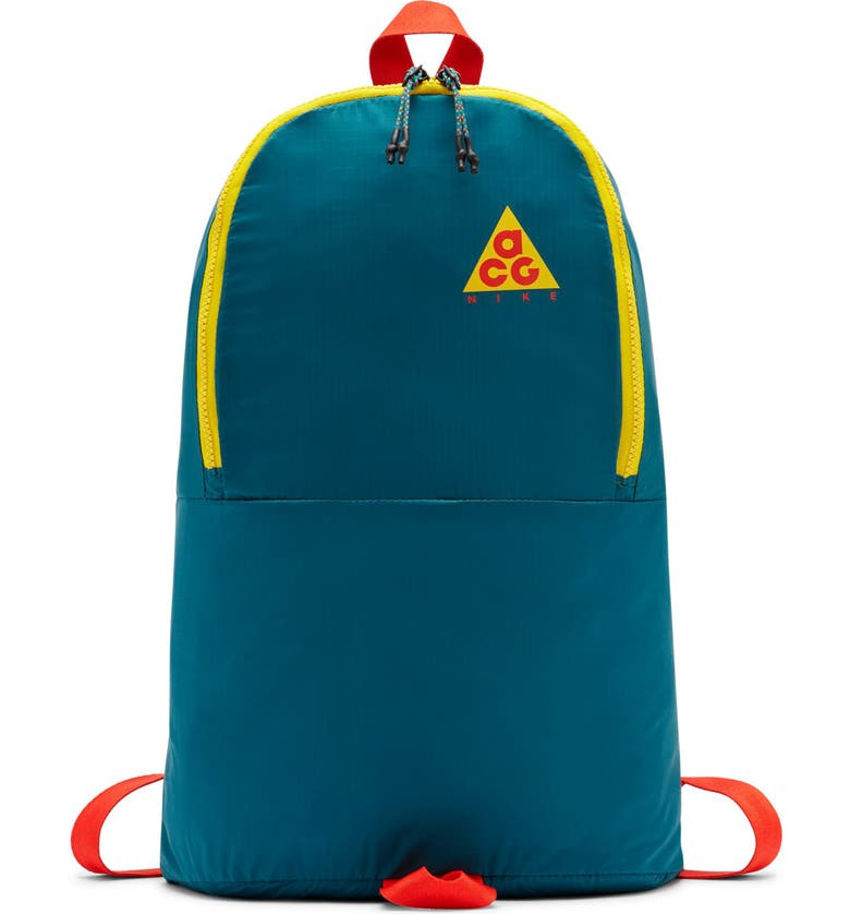 NIKE ACG Packable Backpack, Main, color, GEODE TEAL/ GEODE TEAL