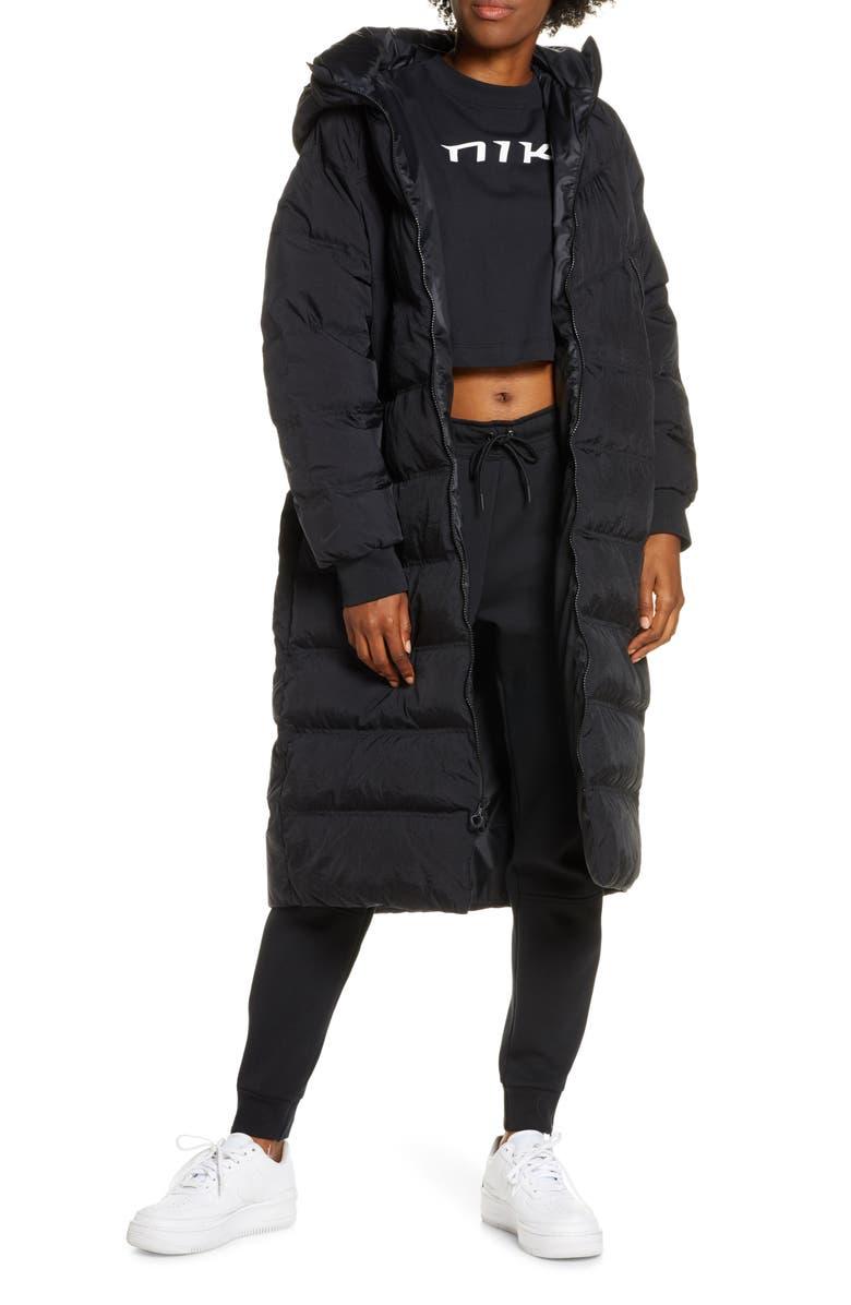 NIKE Sportswear City Ready Water Repellent Down Parka, Main, color, BLACK/ BLACK/ BLACK