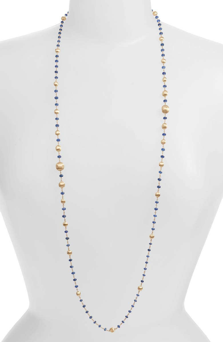 MARCO BICEGO Africa 18K Sapphire Long Necklace, Main, color, SAPPHIRE/ YELLOW GOLD