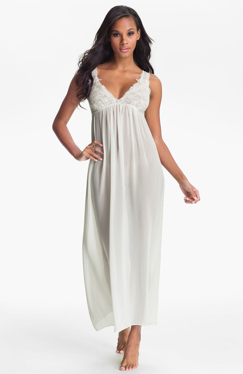 IN BLOOM BY JONQUIL 'Pearls & Lace' Nightgown, Main, color, IVORY