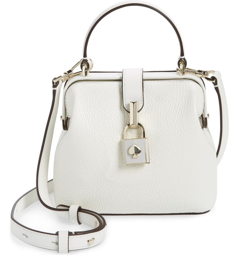 KATE SPADE NEW YORK small remedy leather satchel, Main, color, OPTIC WHITE