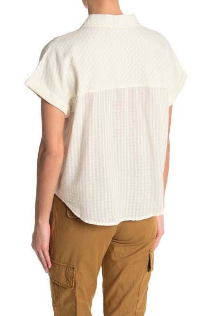Image of Sanctuary Summer Short Sleeve Tie Front Shirt