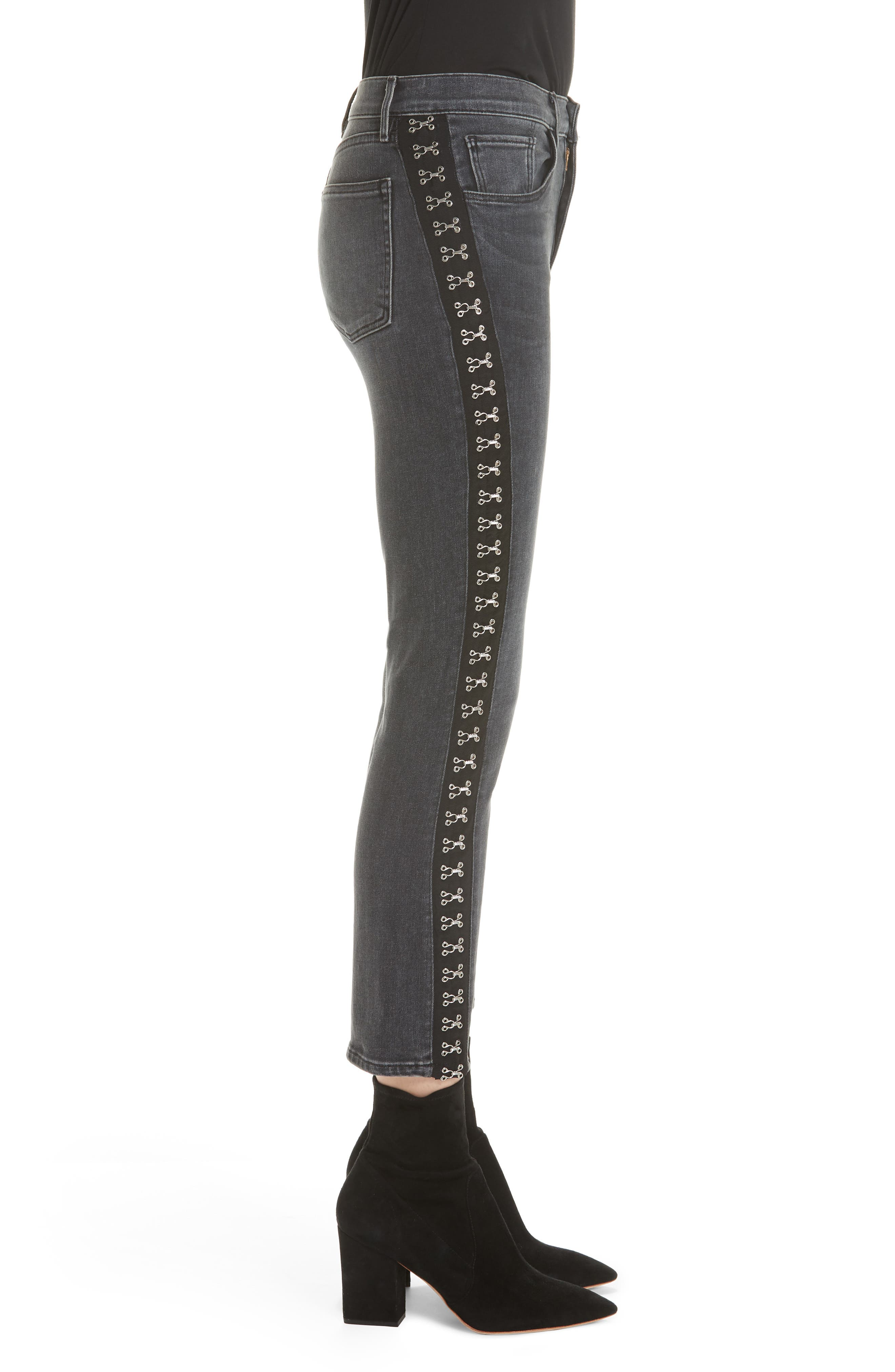,                             Corset Detail Ankle Skinny Jeans,                             Alternate thumbnail 4, color,                             EDDA