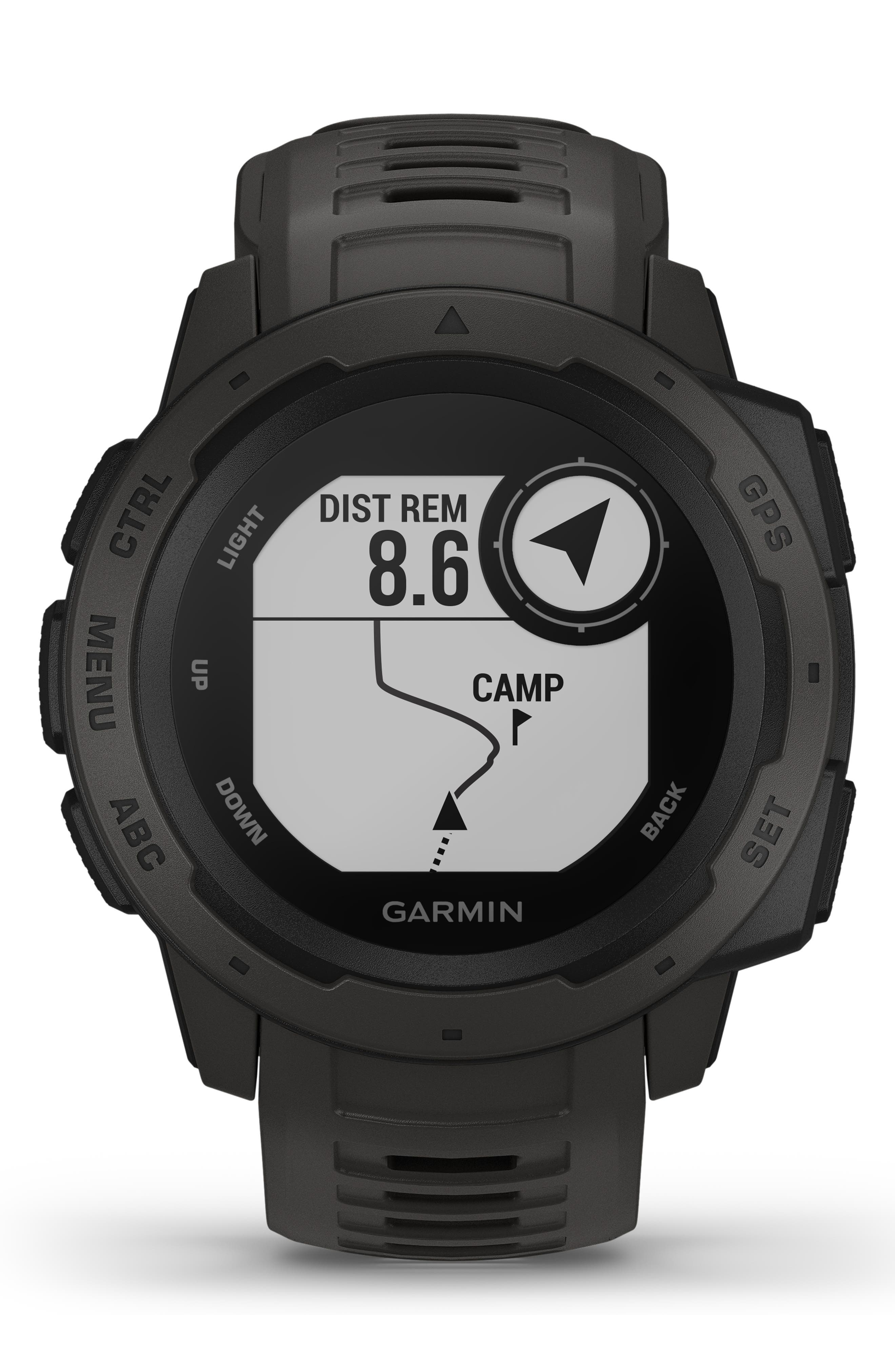 ,                             Instinct<sup>™</sup> Outdoor GPS Watch, 45mm,                             Alternate thumbnail 6, color,                             GRAPHITE