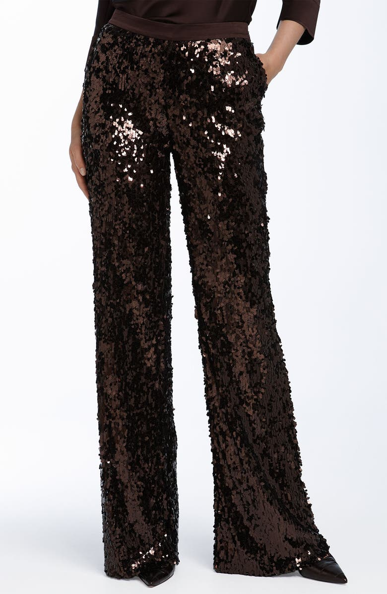 ST. JOHN EVENING Teardrop Sequin Pants, Main, color, 600