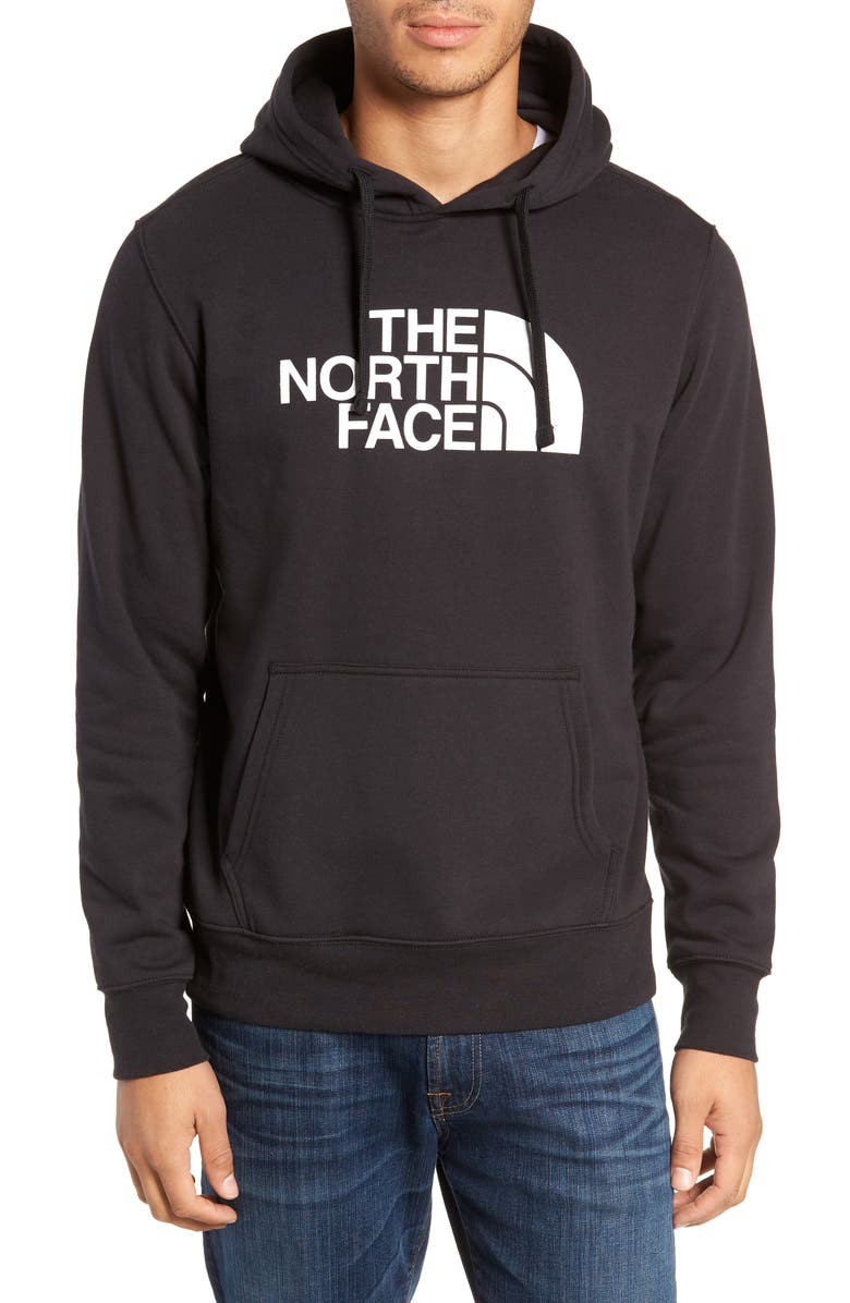 THE NORTH FACE Holiday Half Dome Hooded Pullover, Main, color, TNF BLACK/ TNF WHITE