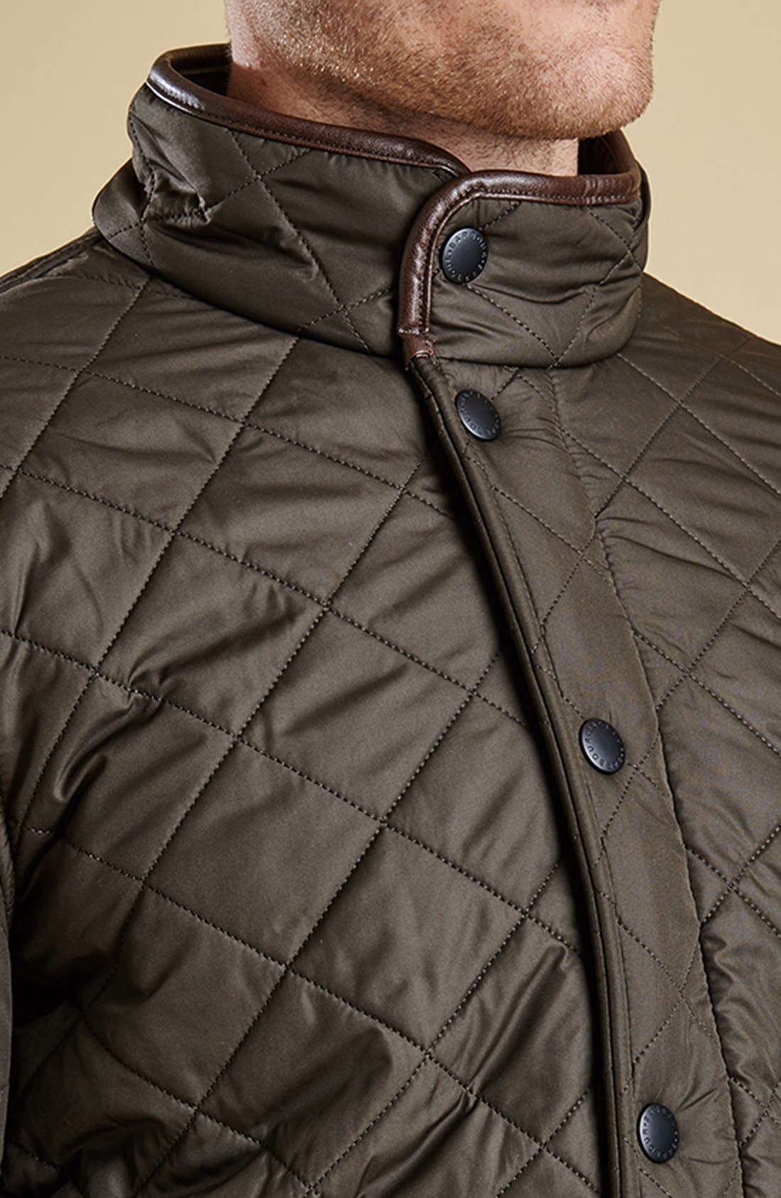 ,                             'Powell' Regular Fit Quilted Jacket,                             Alternate thumbnail 14, color,                             340