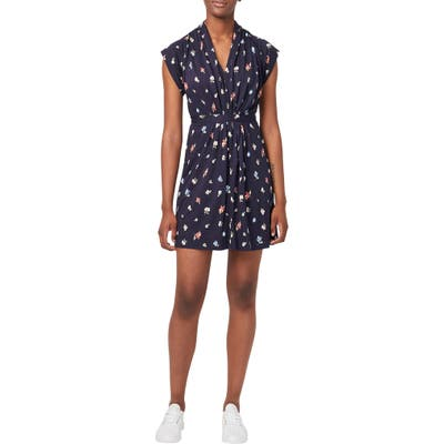 French Connection Roseau Meadow Minidress, Blue