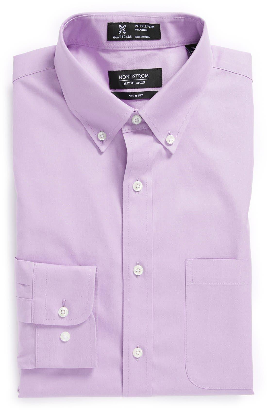 ,                             Smartcare<sup>™</sup> Trim Fit Solid Dress Shirt,                             Main thumbnail 38, color,                             680