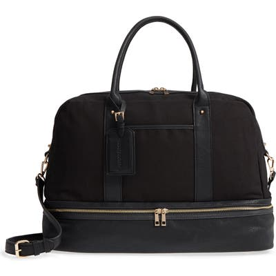 Sole Society Faux Leather Weekend Bag - Black