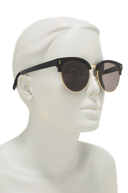 Image of Stella McCartney 56mm Clubmaster Sunglasses