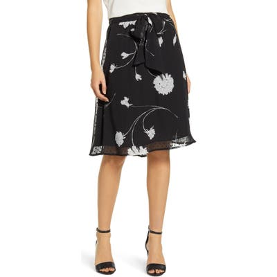 Petite Gibson X Hi Sugarplum! Holiday Coco Bow Detail Holiday Skirt, Red