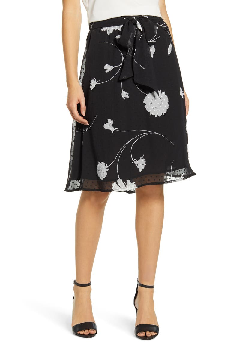 GIBSON x Hi Sugarplum! Holiday Coco Bow Detail Holiday Skirt, Main, color, 625