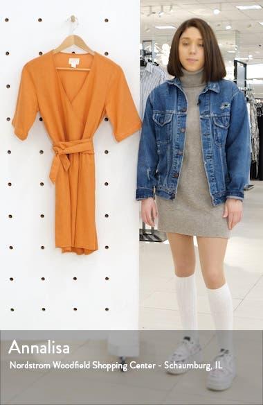 Linen Blend Faux Wrap Dress, sales video thumbnail