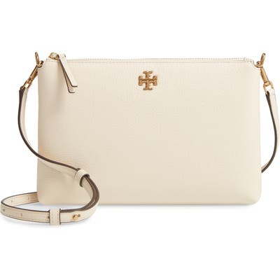 Tory Burch Kira Pebbled Leather Wallet Crossbody Bag - Ivory