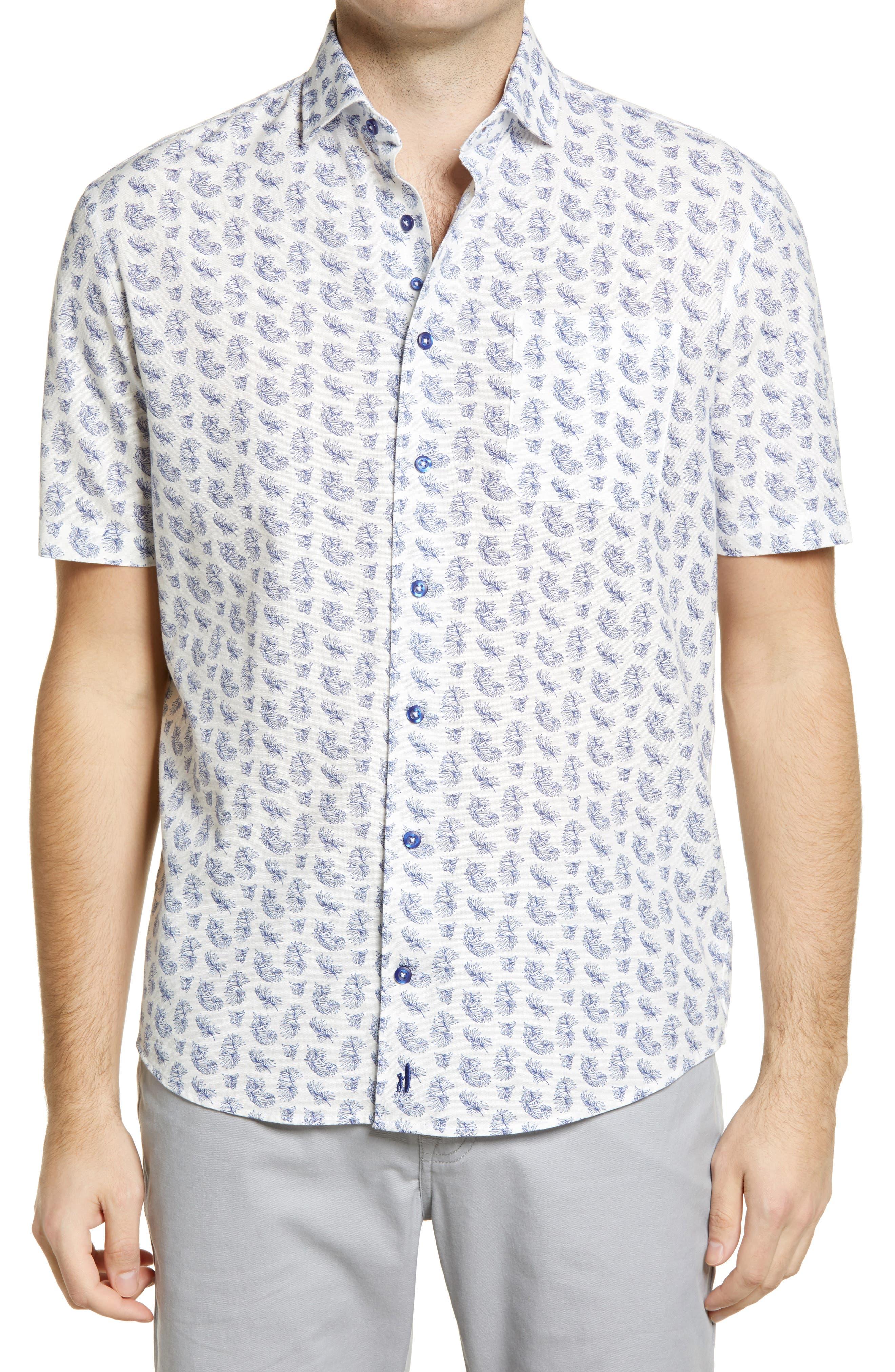 Maud Print Short Sleeve Button-Up Shirt