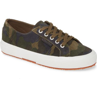 Superga 2750 Suecamp Low Top Sneaker, Green