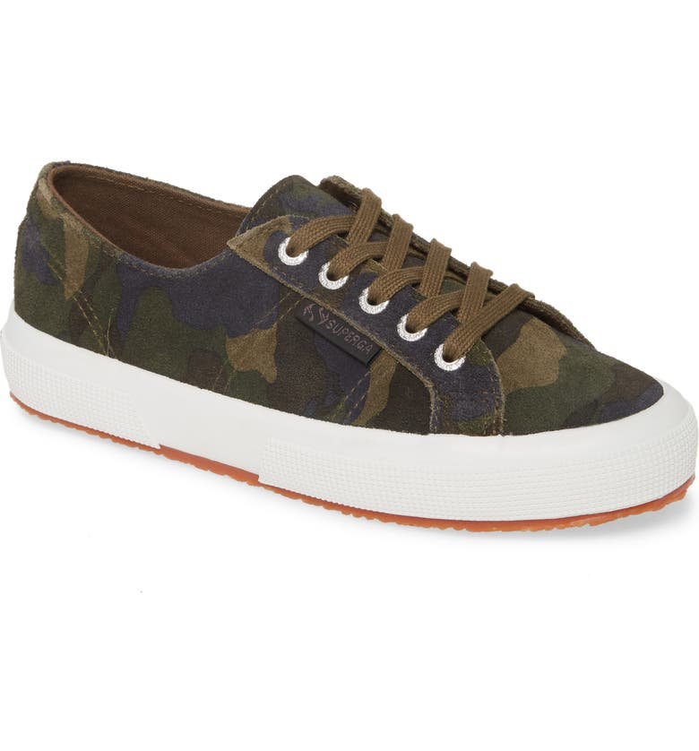 SUPERGA 2750 Suecamp Low Top Sneaker, Main, color, CAMO