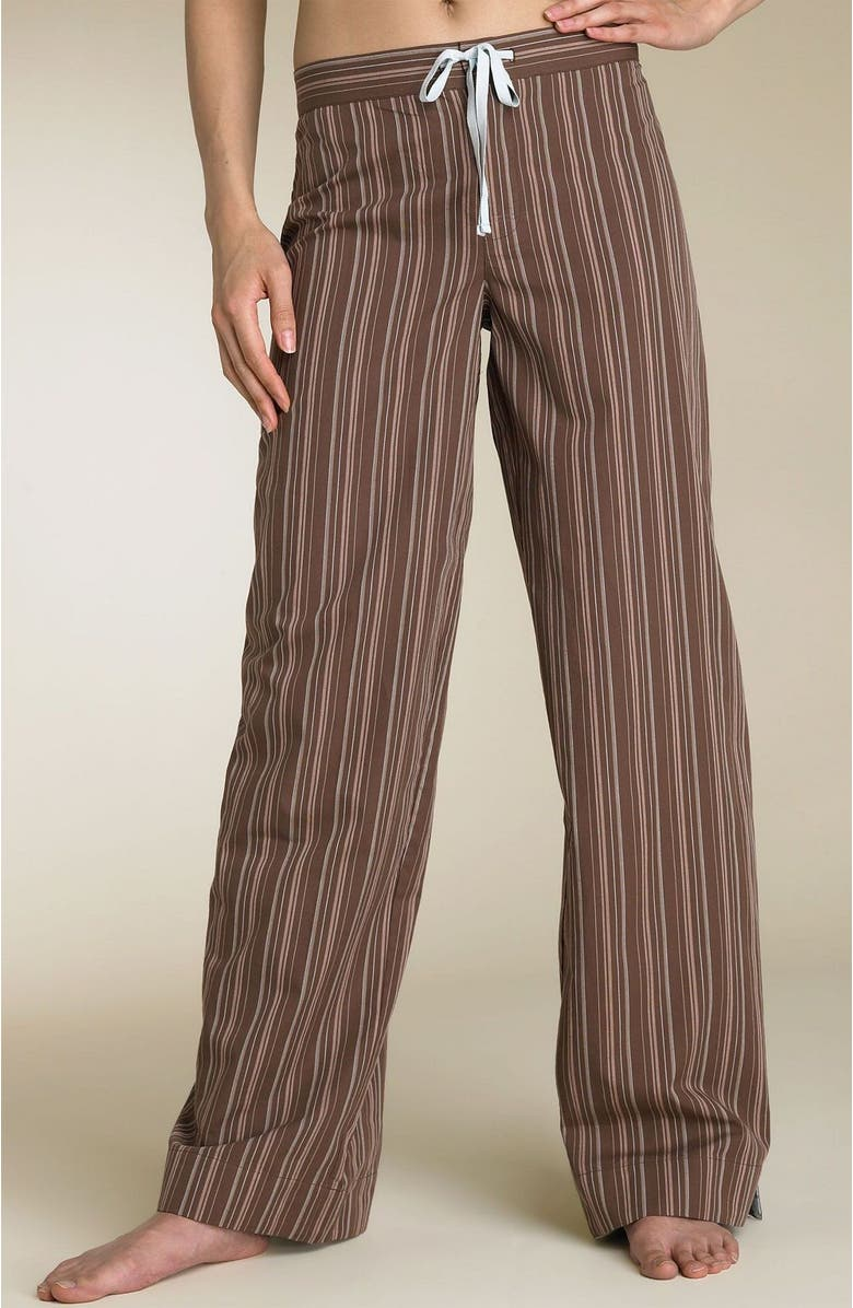 SHIMERA Tie Front Woven Sleep Pants, Main, color, BNS