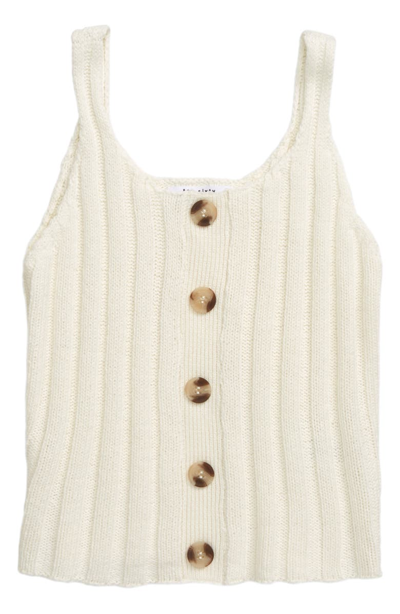 TEN SIXTY SHERMAN Sweater Tank, Main, color, IVORY