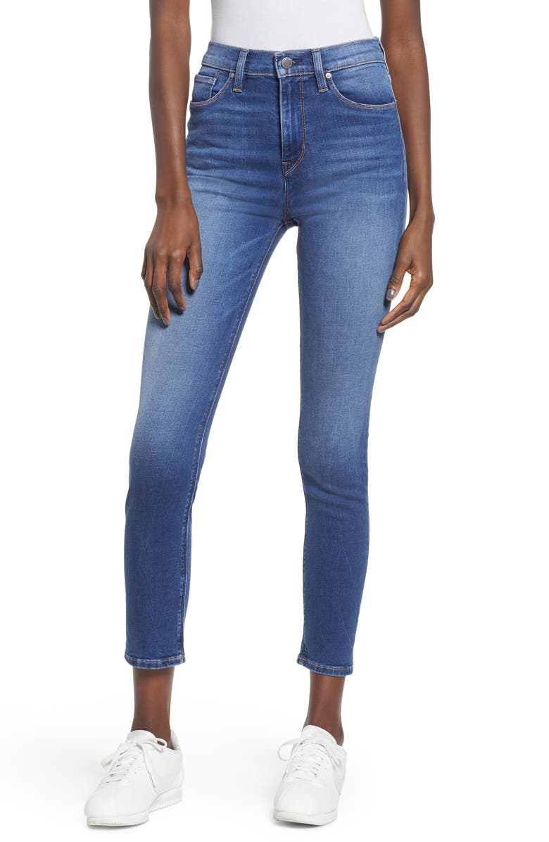 HUDSON JEANS Holly High Waist Crop Skinny Jeans, Main, color, 420