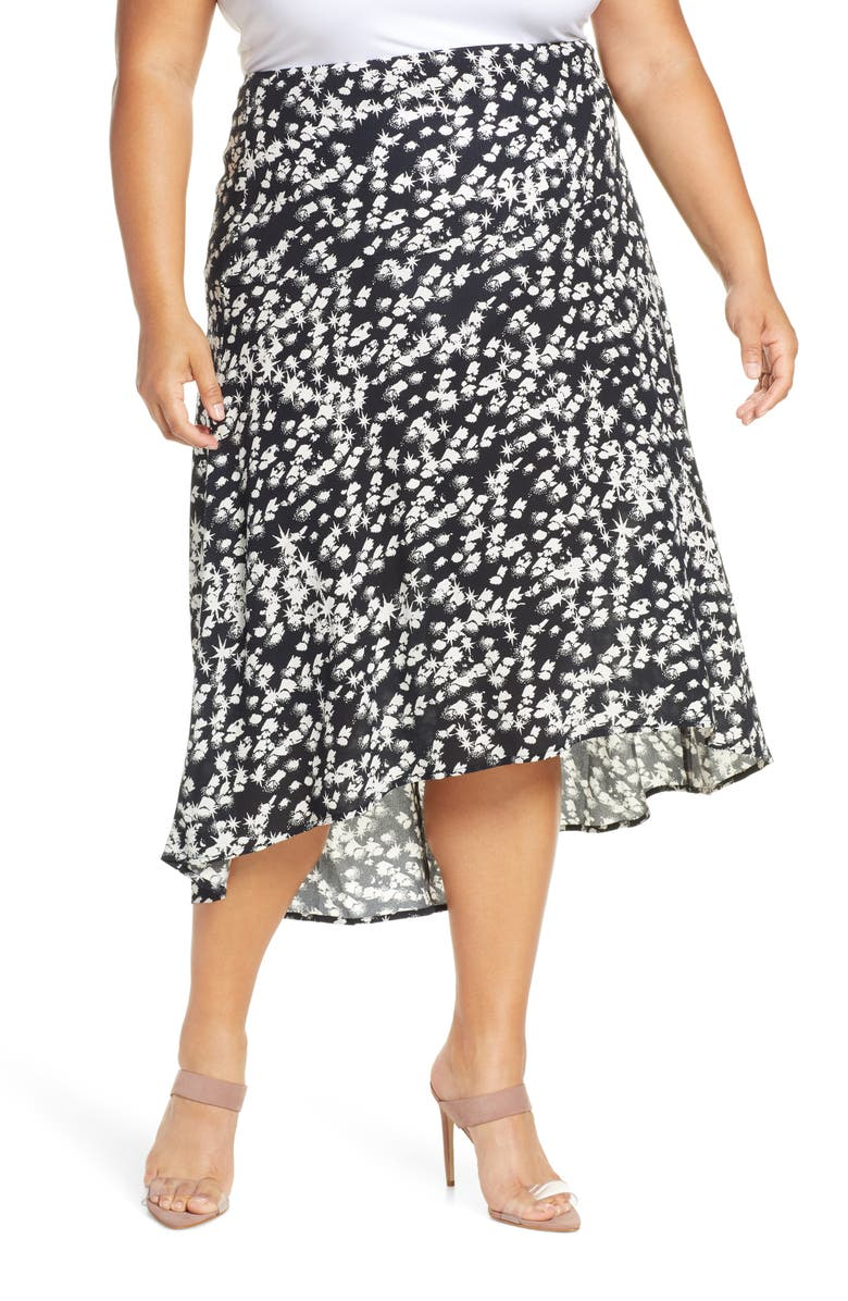 LEITH Panel Skirt, Main, color, BLACK STARBURST