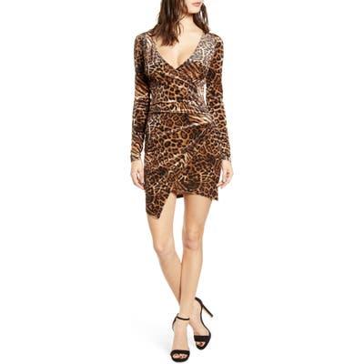 Tiger Mist Estelle Velvet Faux Wrap Dress