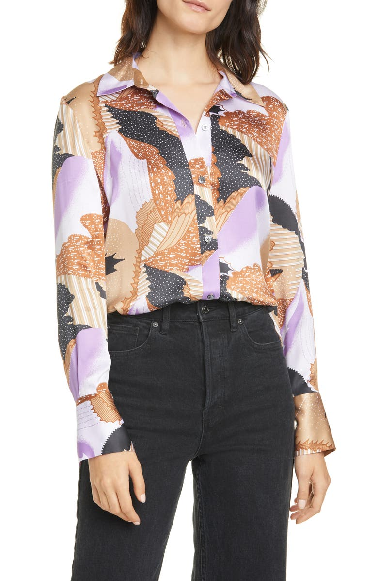 EQUIPMENT Sedienne Print Silk Blouse, Main, color, HYACNTH MU