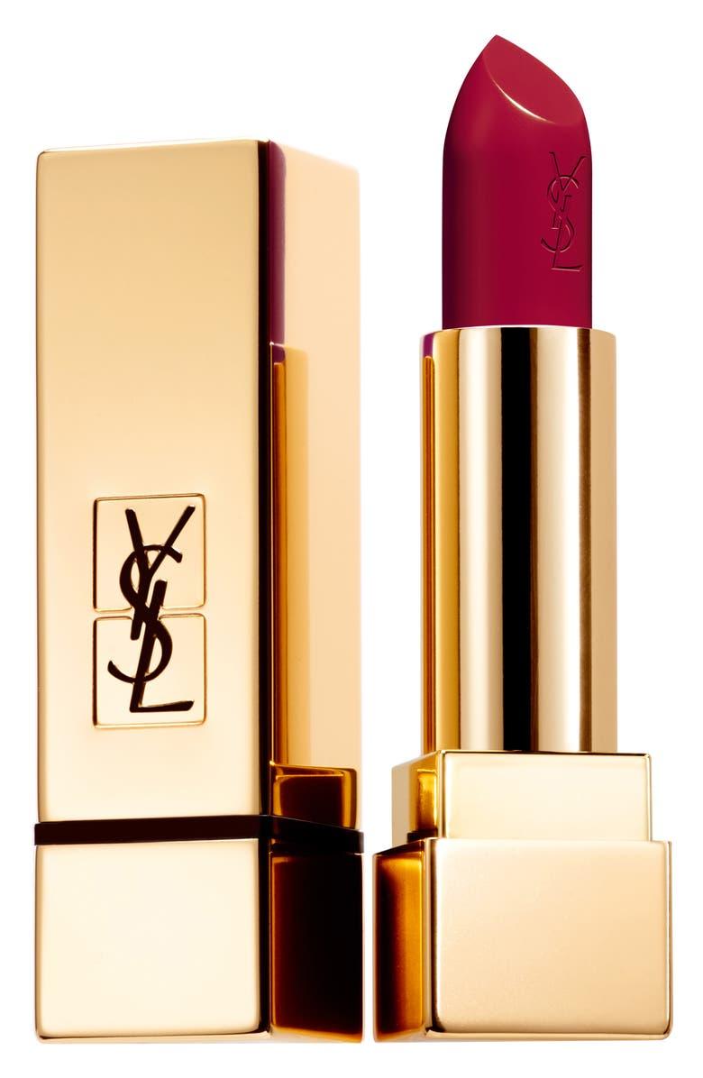YVES SAINT LAURENT Rouge Pur Couture Satin Lipstick, Main, color, 93 ROUGE AUDACIEUX