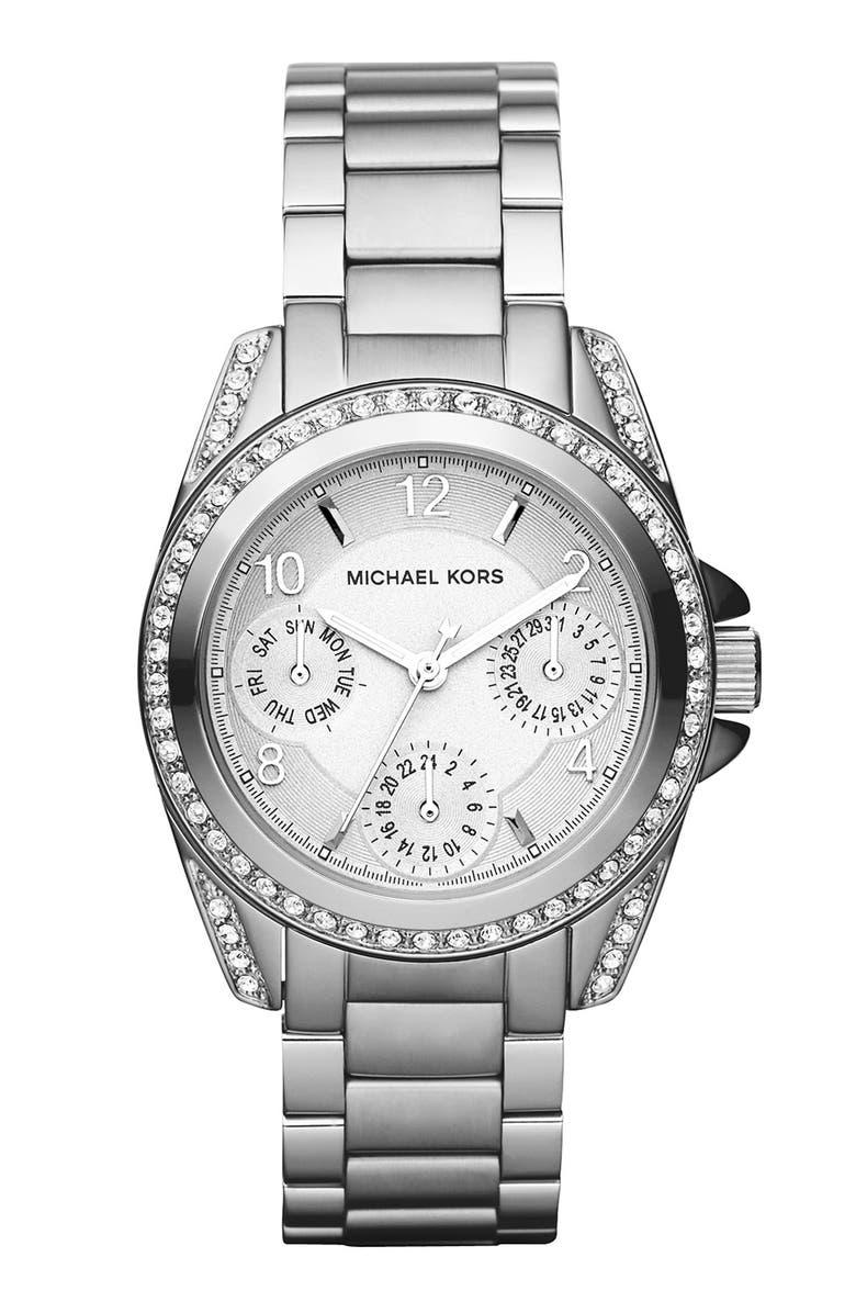 MICHAEL MICHAEL KORS Michael Kors 'Blair - Mini' Multifunction Watch, 33mm, Main, color, 040