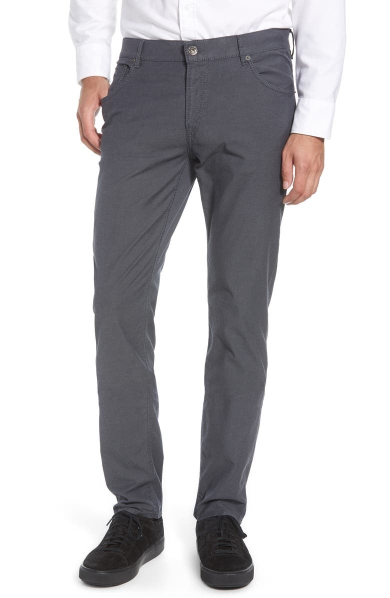 BRAX Chuck Stretch Cotton Pants, Main, color, ASPHALT