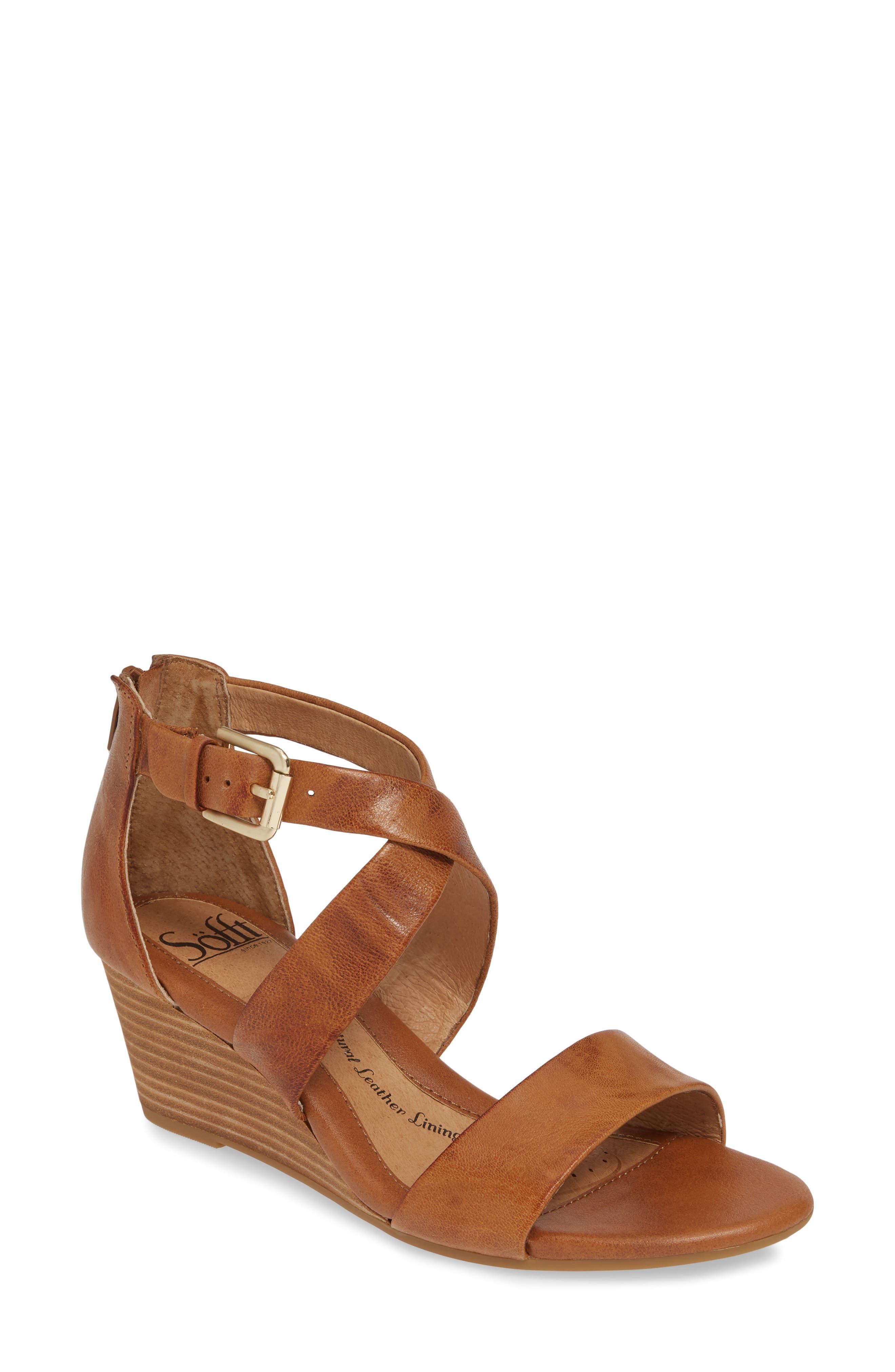Sofft Mauldin Wedge Sandal, Brown