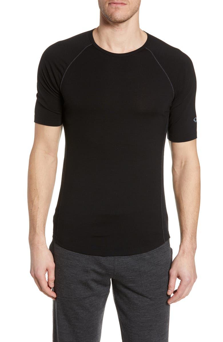 ICEBREAKER Bodyfitzone<sup>™</sup> 150 Zone Short Sleeve Top, Main, color, BLACK/ MINERAL