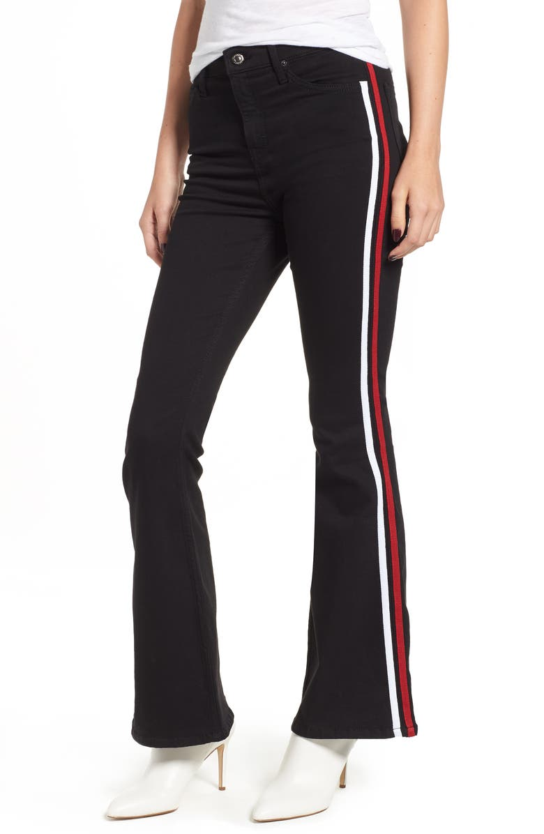 d45891de8faee2 Topshop MOTO Jamie Side Stripe Flared Jeans | Nordstrom