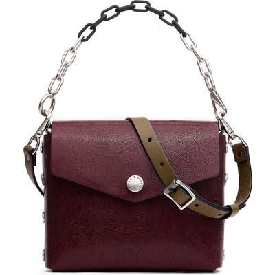 Rag & Bone Atlas Leather Shoulder Bag - Burgundy