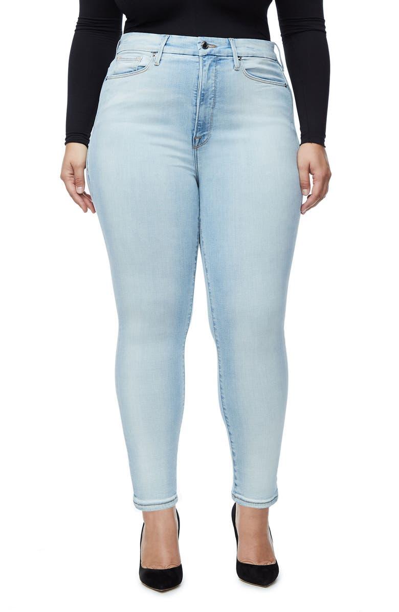GOOD AMERICAN Good Waist High Rise Skinny Jeans, Main, color, 401