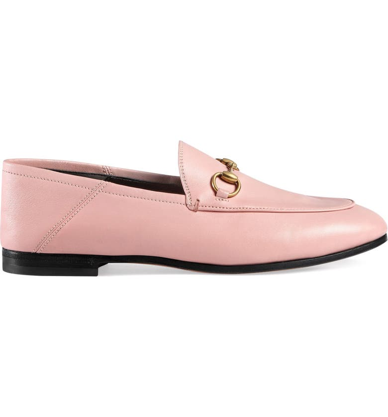 GUCCI Brixton Convertible Loafer, Main, color, LIGHT PINK LEATHER