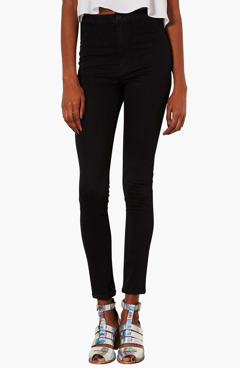 TOPSHOP Moto 'Joni' High Rise Skinny Jeans, Main, color, 001