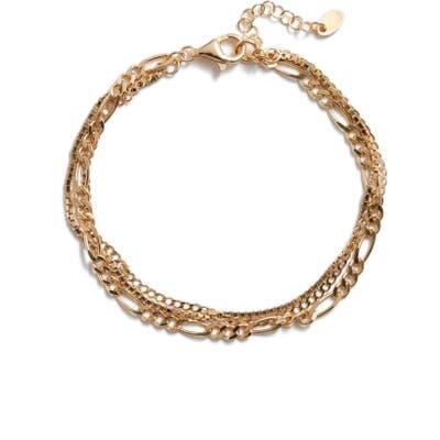 Argento Vivo Triple Layer Chain Bracelet