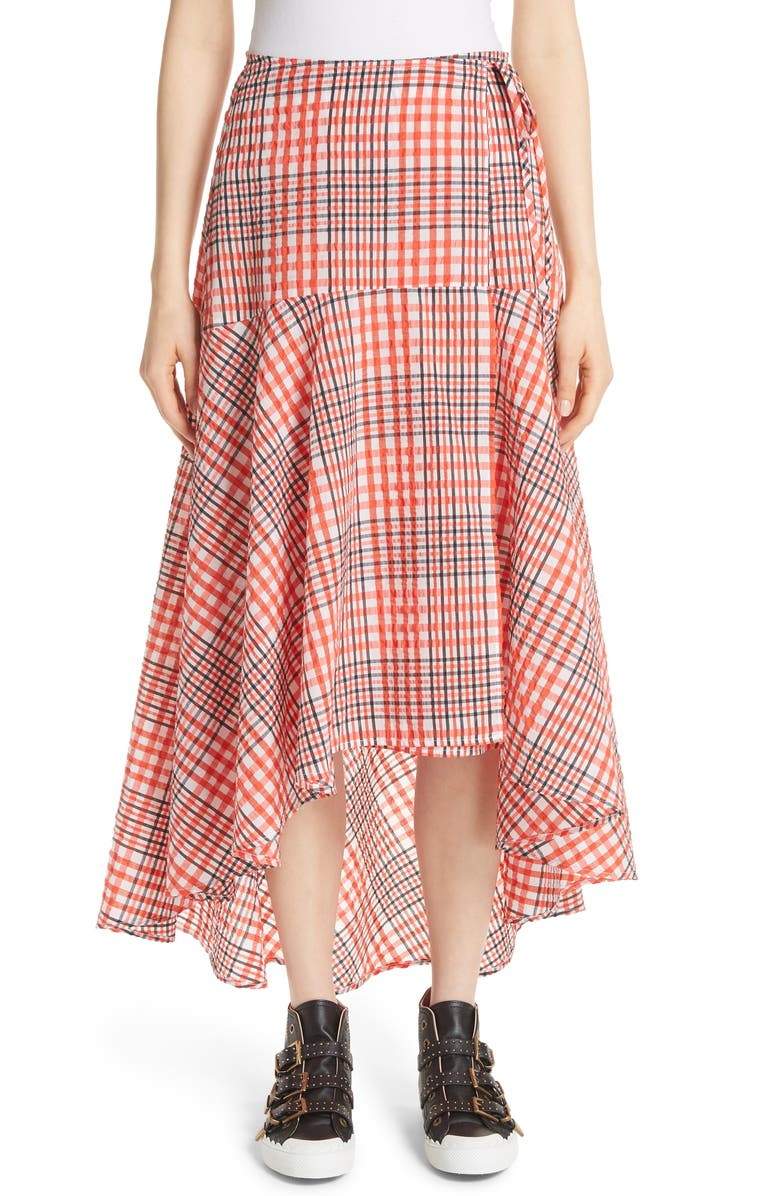 4ad0910e0f Charron Plaid Wrap Skirt, Main, color, 600