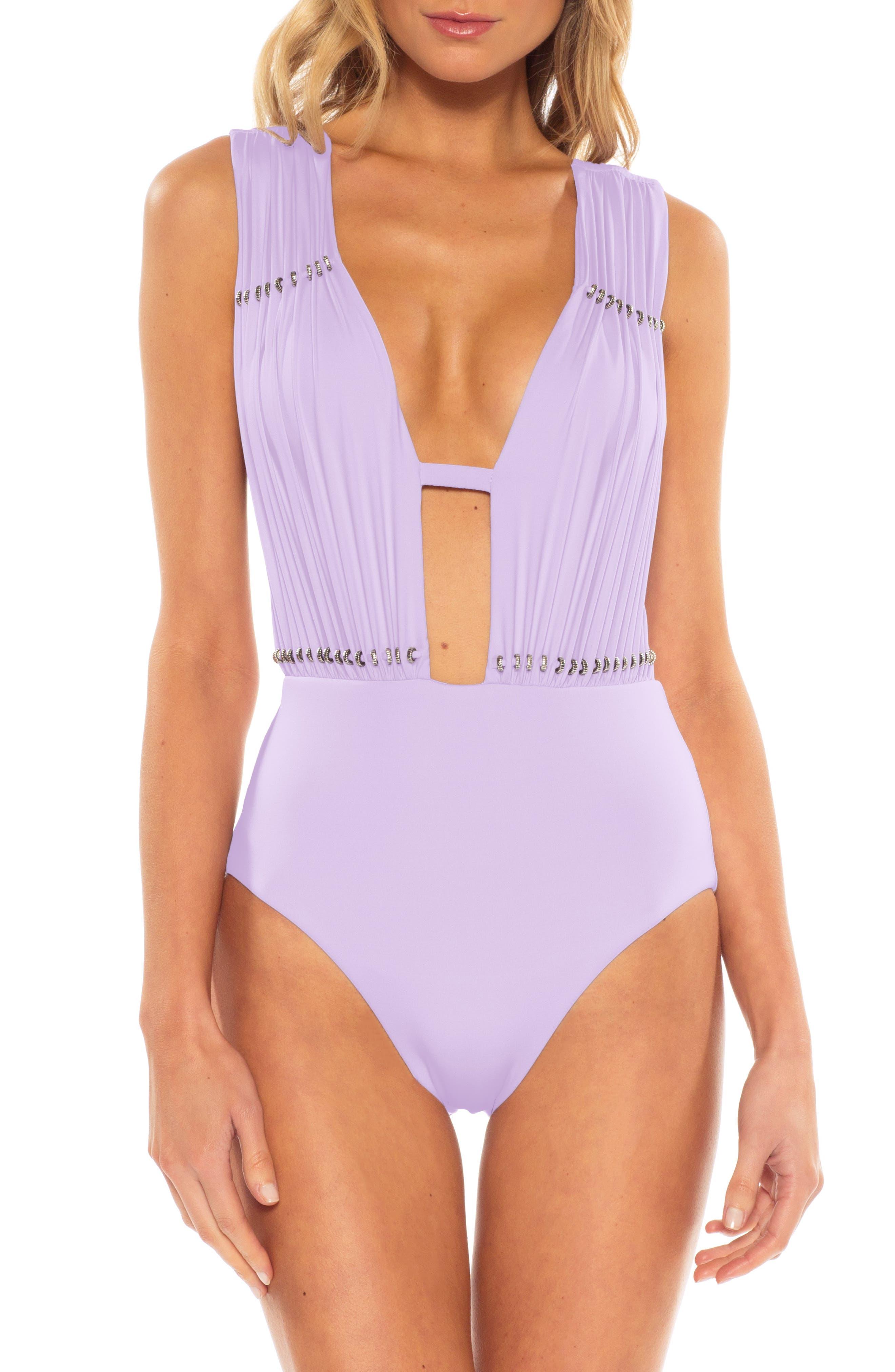 Becca Reconnect One-Piece Swimsuit, Purple