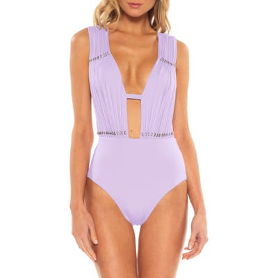 Becca Reconnect One-Piece Swimsuit, Purple