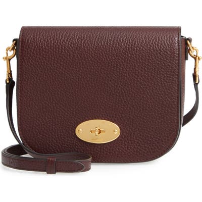 Mulberry Small Darley Leather Crossbody Bag - Burgundy