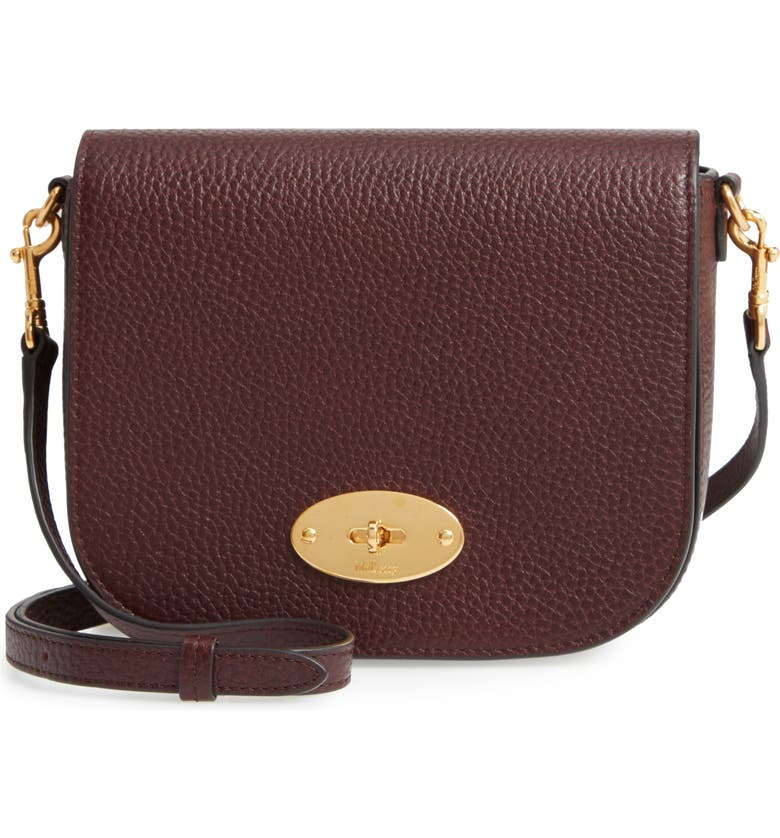 MULBERRY Small Darley Leather Crossbody Bag, Main, color, OXBLOOD
