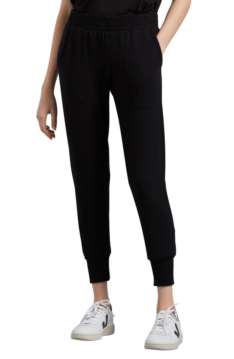 MICHAEL STARS Tiffany Madison Brushed Jersey Jogger Pants, Main, color, BLACK