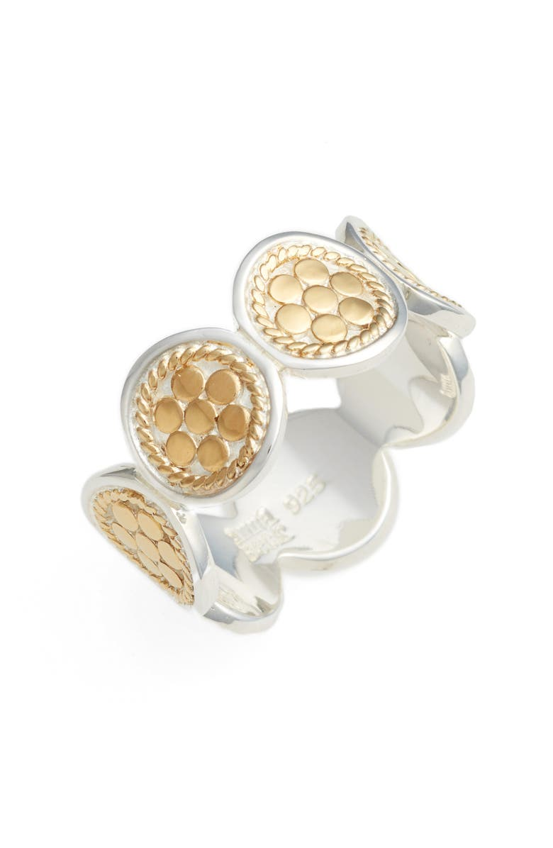 ANNA BECK Signature Multi Disc Band Ring, Main, color, GOLD