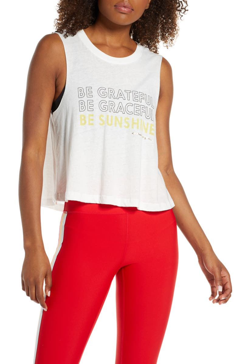 SPIRITUAL GANGSTER Grateful Crop Tank, Main, color, STONE