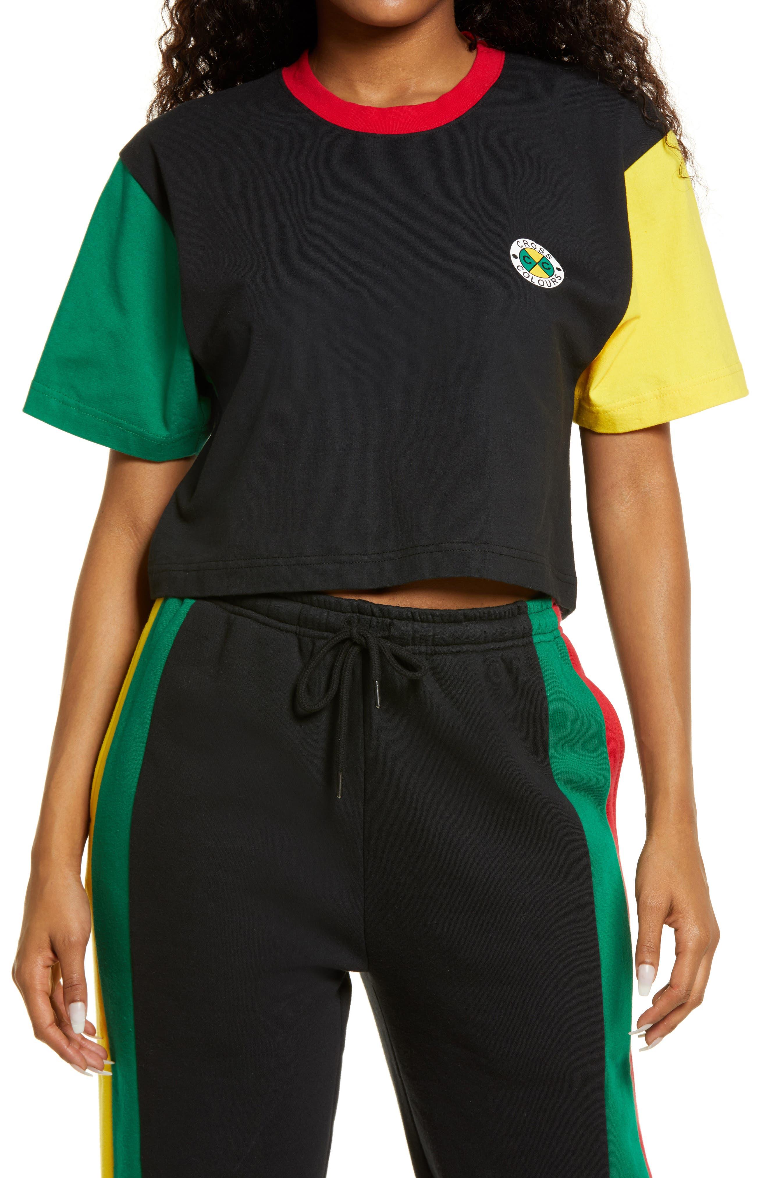 Colorblock Crop T-Shirt