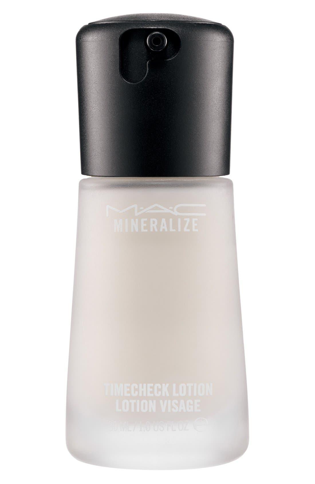 ,                             MAC Mineralize Timecheck Lotion,                             Main thumbnail 1, color,                             NO COLOR