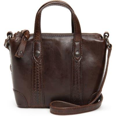 Frye Melissa Mini Leather Crossbody Shopper - Brown
